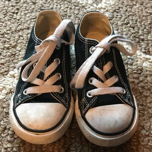 Black Converse All Stars, toddler size 7